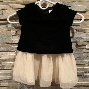 Baby Gap 2 toddler Velvet top tulle gold sparkles
